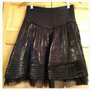Betsey Johnson full shiny skirt sz 6